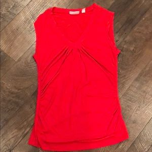 New York and Company stretch tank RED MECIUM